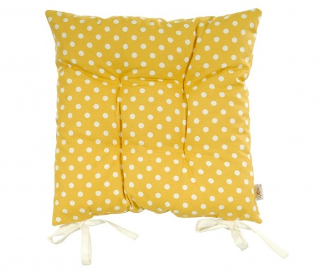 Polštář na sezení Polka Dots Yellow 37x37 cm