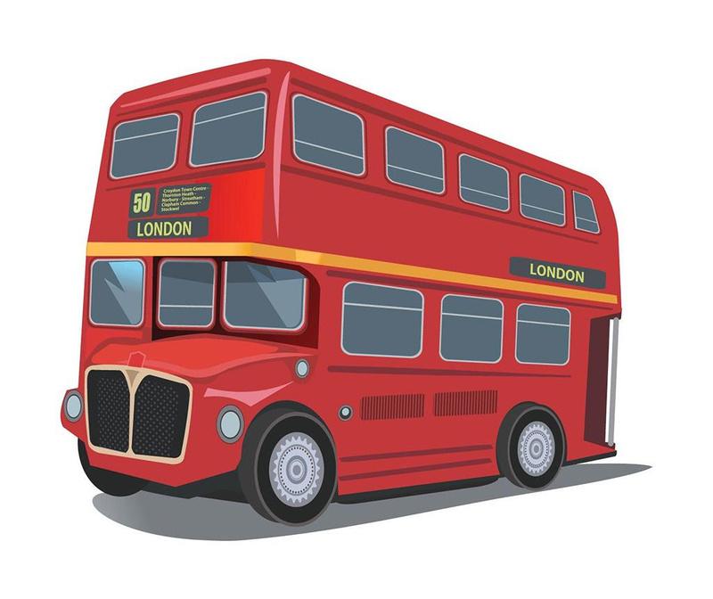 Sticker London Bus