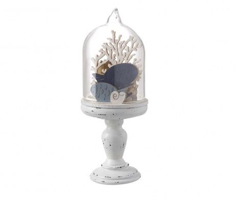 Decoration Dome With Fish in Blue