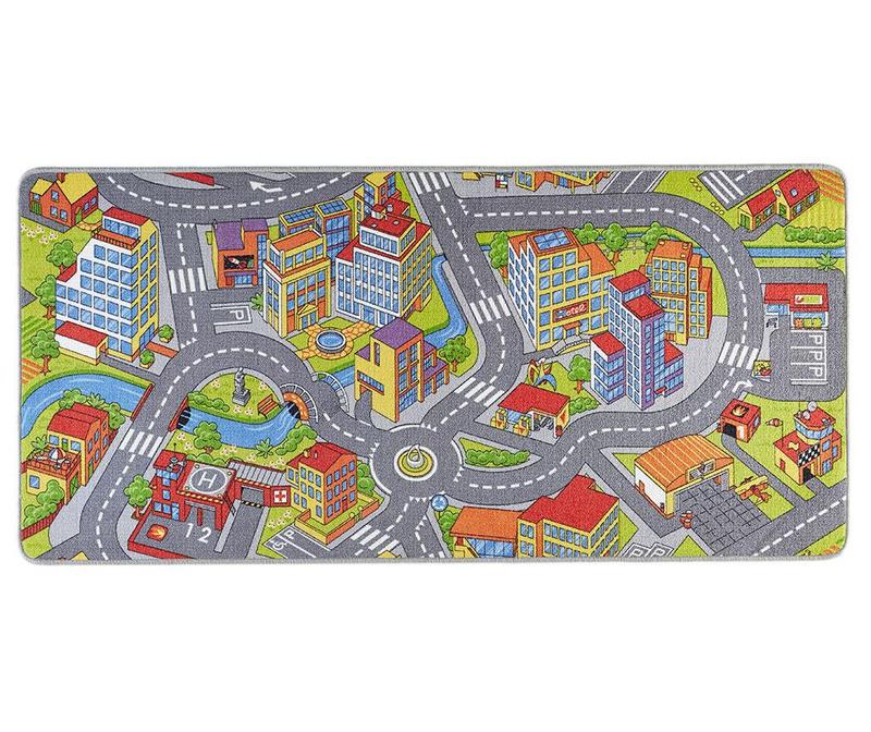 Igralna podloga Smart City Grey 90x200 cm
