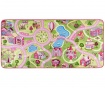 Covor de joaca Sweet Town Pink 90x200 cm