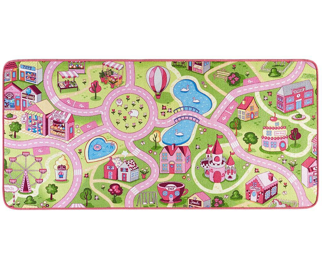 Tepih za igru Sweet Town Pink 90x200 cm