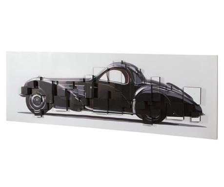 Tablou Golden Age Car 3D Effect 50x150 cm