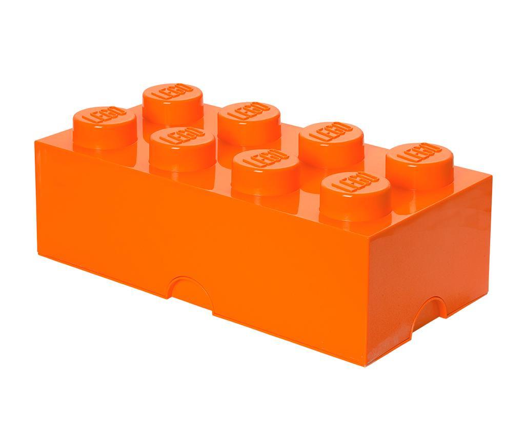 Škatla s pokrovom Lego Rectangular Extra Orange