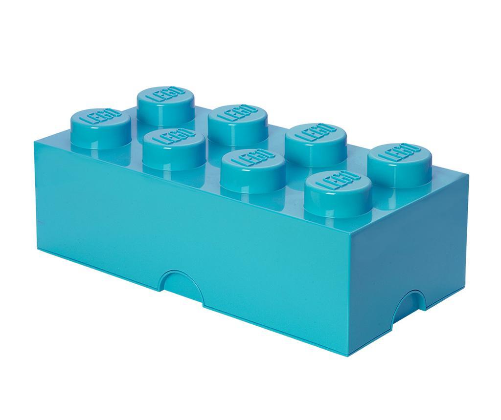 Cutie cu capac Lego Rectangular Extra Turquoise