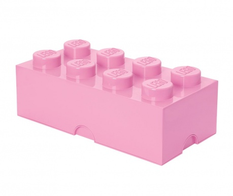 Kutija za pohranu s poklopcem Lego Rectangular Extra Light Purple