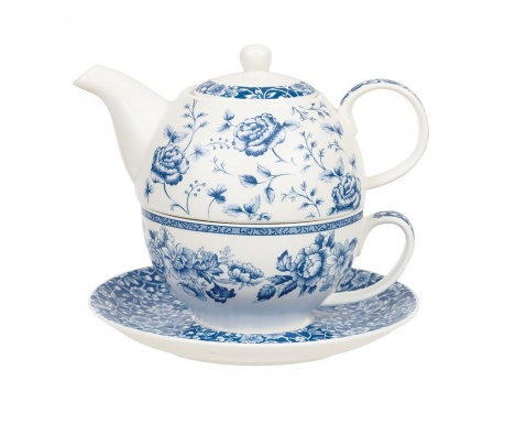Set of teapot with cup and saucer Blue Story
