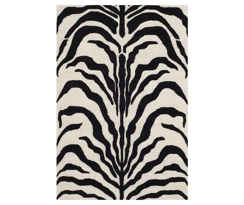 Koberec Nahla Ivory Black 121x182 cm
