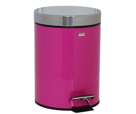 Cos de gunoi cu capac si pedala Messina Pink 3 L