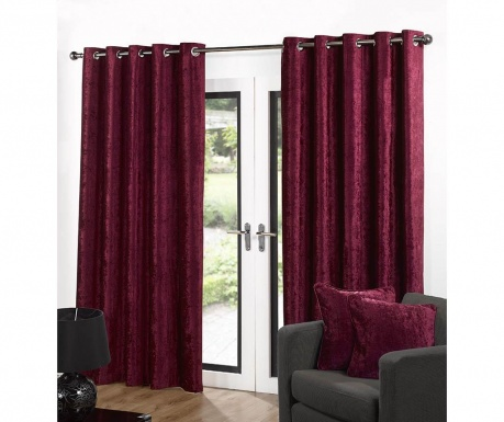 Set 2 draperii Velvet Red 117x137 cm