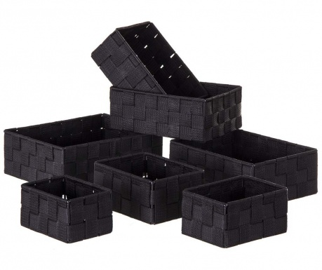 Sada 7 košů Storage Black