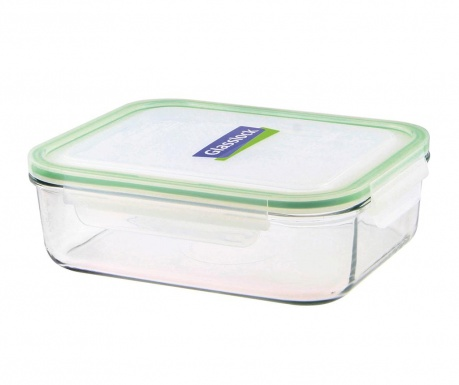 Zdjela s  hermetičkim poklopcem Compact Classic Rectangular Green 2 L