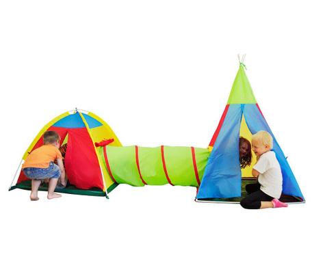 Set 2 igralnih šotorov s tunelom Zenovia