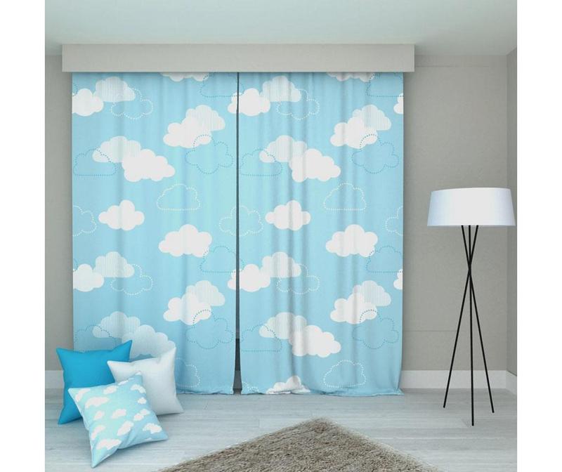 Set 2 draperii Clouds 140x250 cm