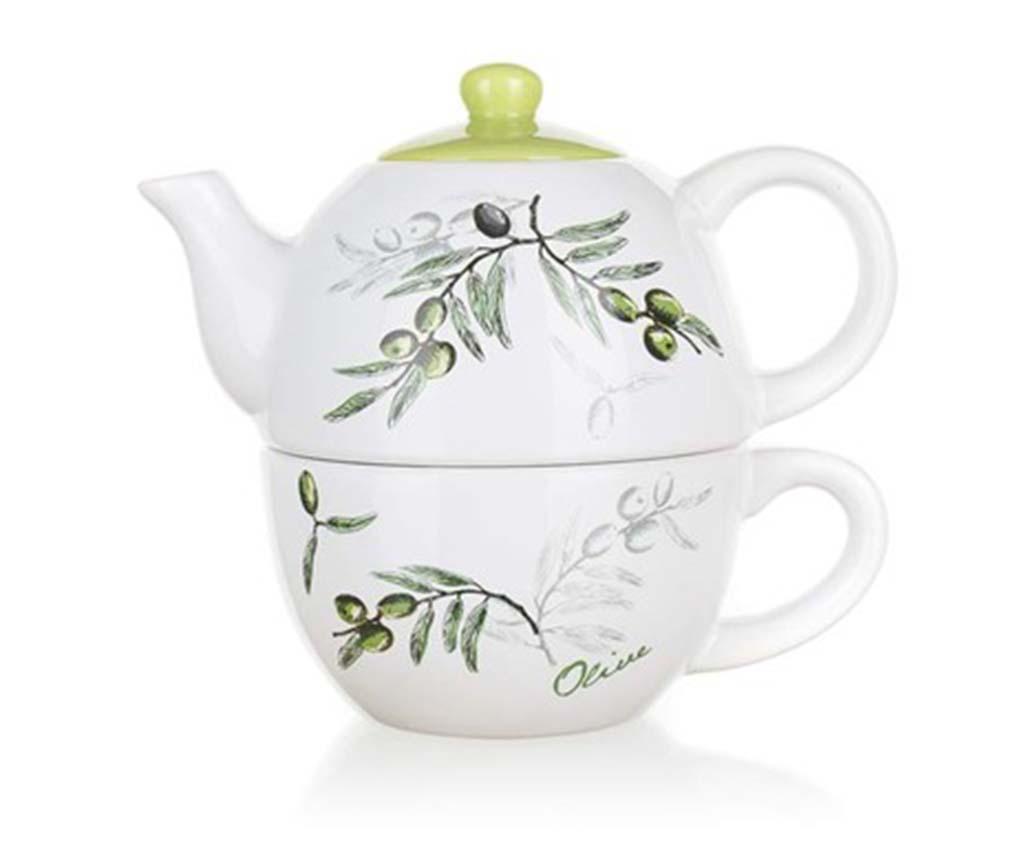 Set ceainic si ceasca Olives