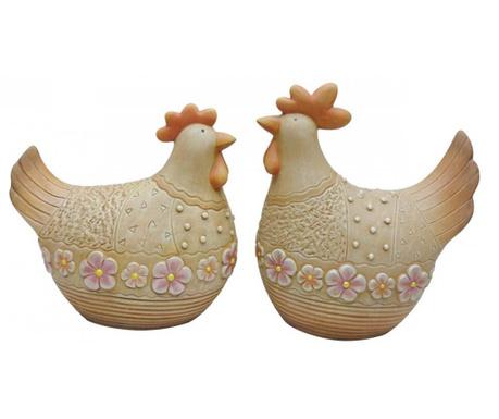 Zestaw 2 dekoracji zewnętrznych Flower Hens