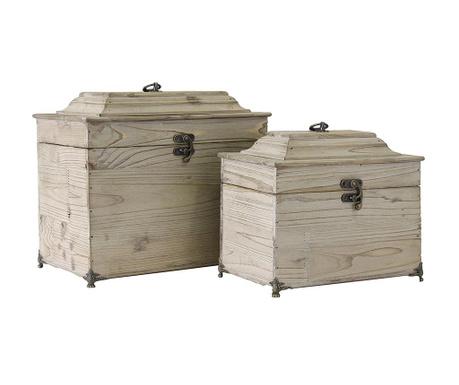 Комплект 2 кутии с капак Queen
