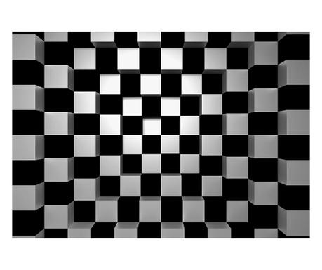 Тапет Black & White Squares 254x366 см