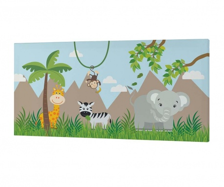 Obraz Jungle Animals 27x53 cm