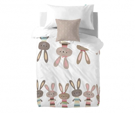 Posteljina Single Little Rabbits Square