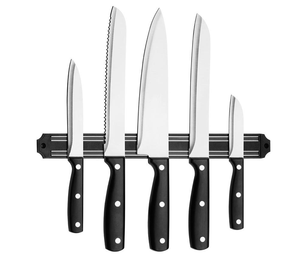 Set 5 noževa i magnetni stalak Chef