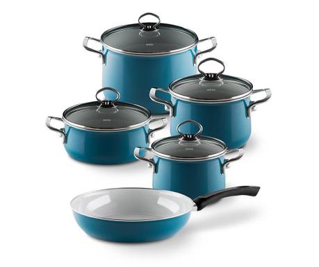 9-dijelni set posuda za kuhanje Aquamarine