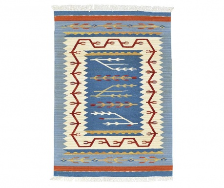 Dywan Kilim Blue and Red 75x125 cm