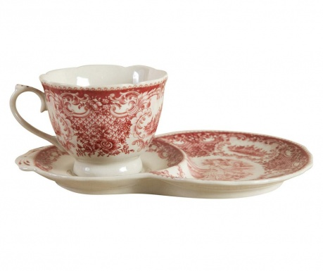 Set of cup and saucer Palace Long Red