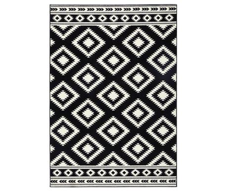 Tepih Ethno Black and Cream 120x170 cm