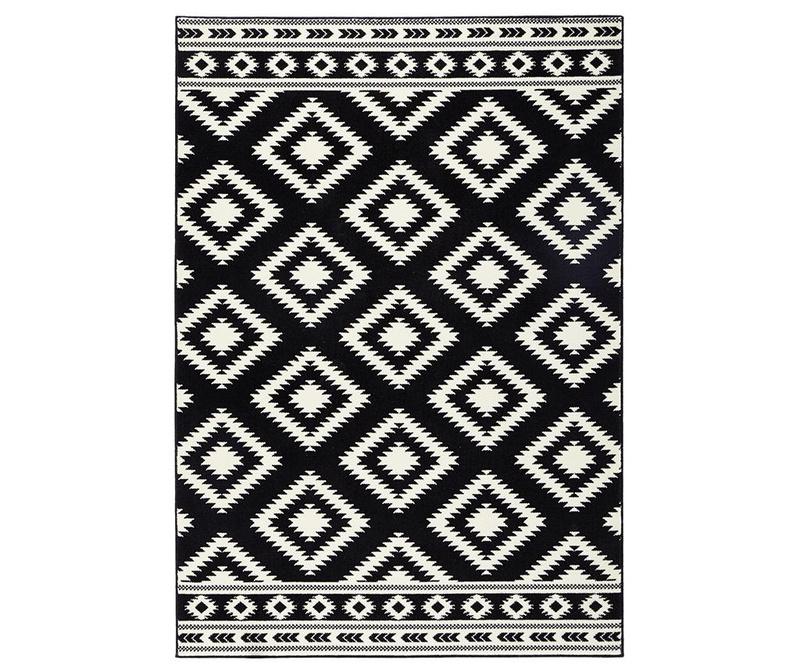 Килим Ethno Black and Cream 160x230 см