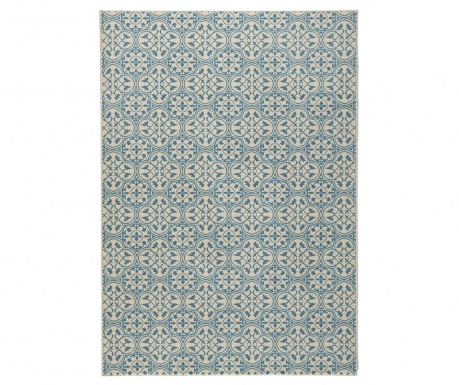 Tepih Pattern Blue and Cream 120x170 cm