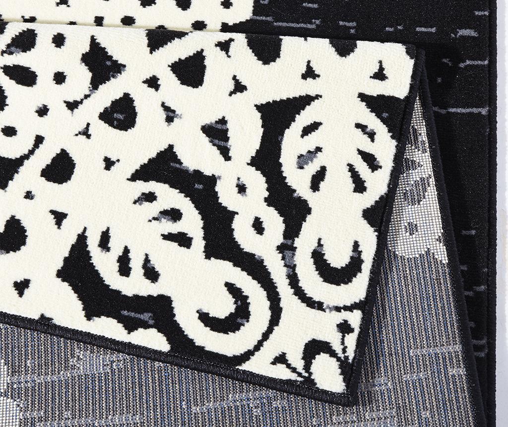 Covor Lace Black and Cream 160x230 cm