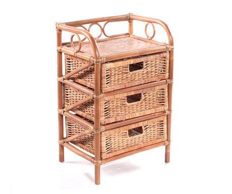 Cupboard with 3 baskets Safari