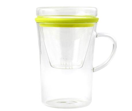Κούπα με καπάκι και ενσταλακτής Amo Green 300 ml