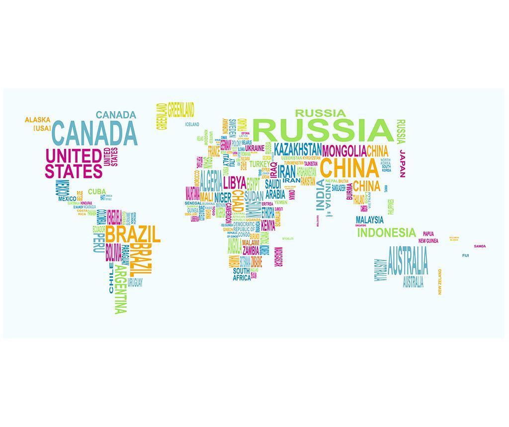 World Map Kép 80x160 cm