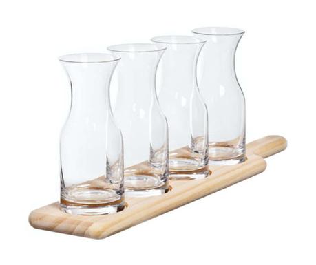 Sada 4 sklenic s podstavcem Tasting