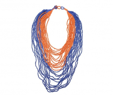 Necklace Orange Navy
