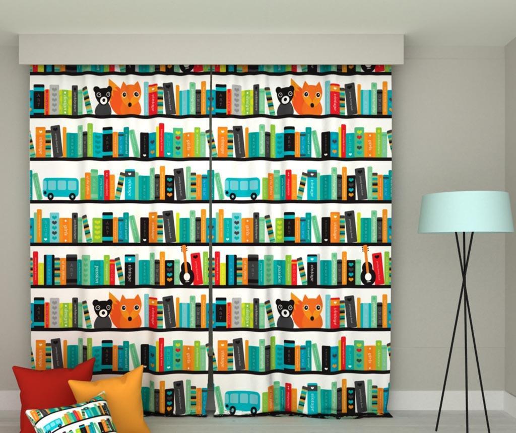 Books 2 db Sötétítő 140x250 cm