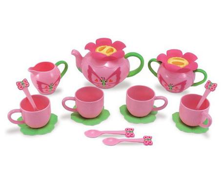 Set de jucarie pentru ceai 17 piese Flower Party