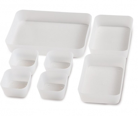 Set of 7 organizing trays Cara