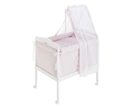 Zestaw łóżeczko z baldachimem i akcesoria Tres Chic Pink