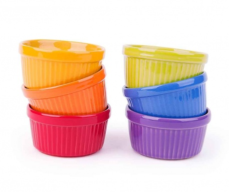 Set 6 forme de copt Ramekin Colors 317 ml