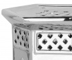 Taburet decorativ Malta Silver