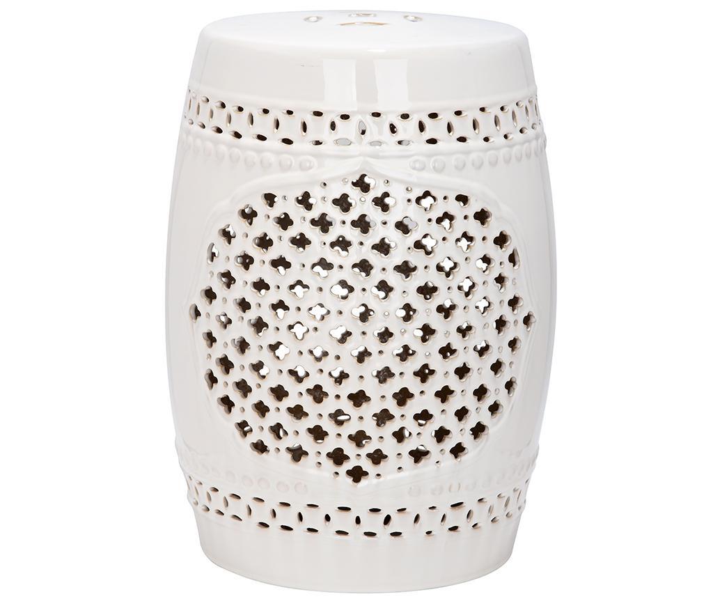 Taburet decorativ Marbella White