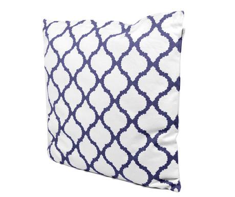 Decorative cushion Amir White Blue