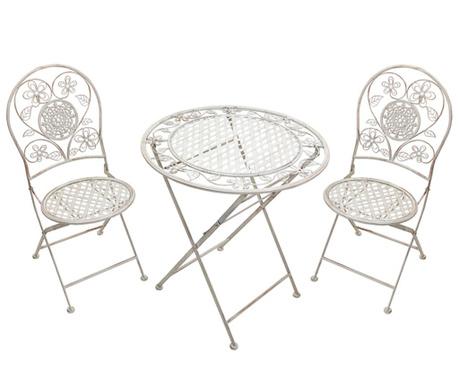Sada stôl a 2 stoličky do exteriéru Ancient Flowers