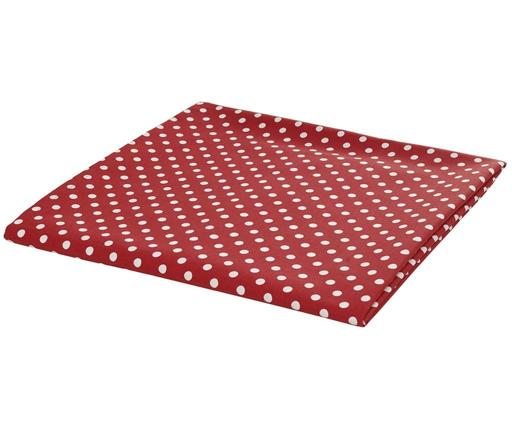 Obrus Polka Dots Red 170x170 cm