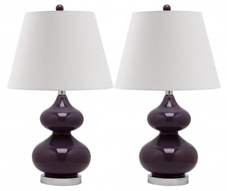 Sada 2 lamp Gabriel Purple