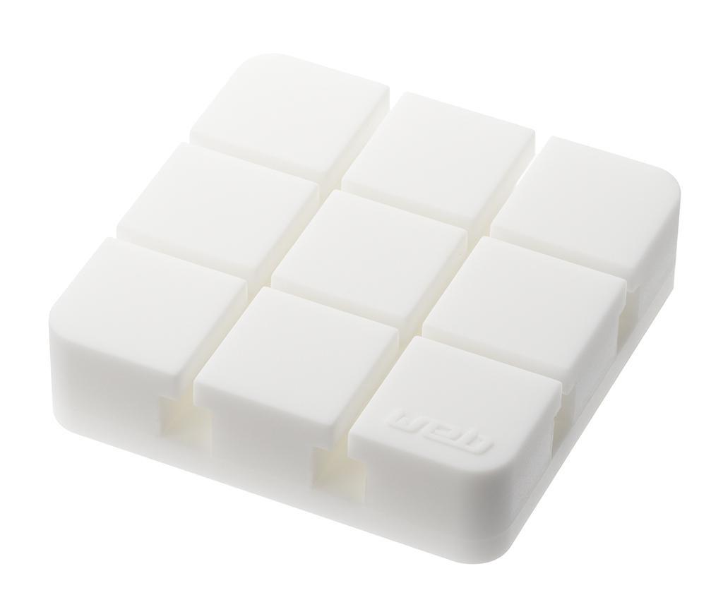 Organizér na kabely Square White