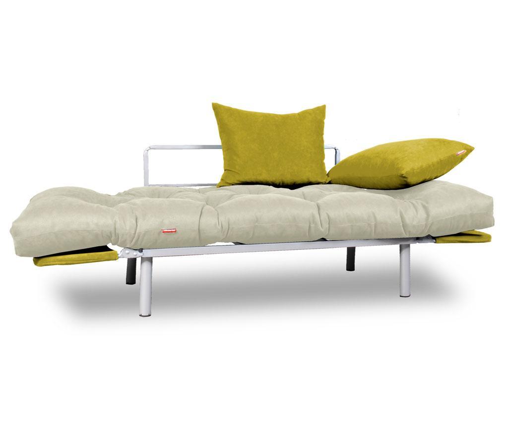 Raztegljiva zofa Relax Cream Yellow